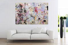 Öl Gemälde 'Rosa Schatten' 180x120cm