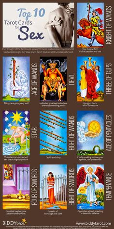 Things are about to heat up when these #Tarot cards appear. Expect things to get fun and frisky. Download your free copy of my Top 10 Tarot Cards for love, finances, career, life purpose and so much more at http://www.biddytarot.com/admin/top-10-tarot-cards-ebook. It's my gift to you…