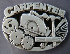 CARPENTER CIRCULAR HANDSAW HAMMER TOOL QUALITY BELT BUCKLES BELTS BUCKLES