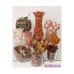 Brown  White Swirl 1.5-Ounce Whirly Pops: 24-Piece Display