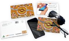 Colin Jones Kangaroo Dot Ochre Microfibre Cloth Post Card