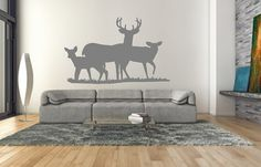 #Deer Wall Decal  Deer Style E Wall Decal  by CuttinUpCustomDieCut