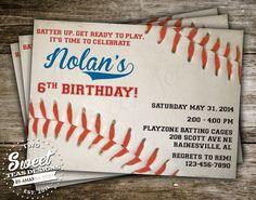 Baseball Birthday Invitations Baseball by SweetCricketDesign ...
