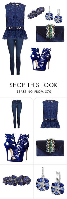 """""""Royal in royal blue"""" by ashleyhuang68 ❤ liked on Polyvore featuring Topshop, Sea, New York, Giuseppe Zanotti, Sondra Roberts, Arunashi and Effy Jewelry"""