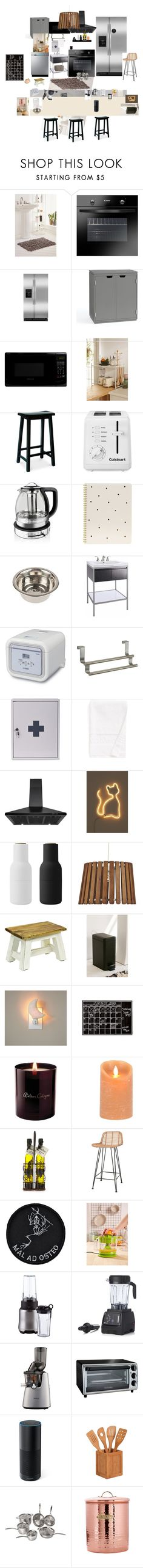 """Untitled #88"" by xteenxidlex ❤ liked on Polyvore featuring Urban Outfitters, Candy, Pottery Barn, Farberware, Cuisinart, KitchenAid, Sugar Paper, Improvements, Garden Trading and Calvin Klein"