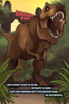 T-Rexy Jurassic World Jurassic Park Novel, Jurassic Park Gate, Jurassic Park 1993, Jurassic Park World, Michael Crichton, Godzilla, Science Fiction, Dinosaur Art, Dinosaur Origami