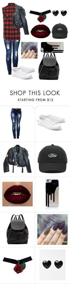 """""""5sos concert"""" by melee23 ❤ liked on Polyvore featuring Mikey, Lacoste, Jean-Paul Gaultier, Vans and Witchery"""
