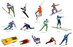 The Winter Sports solution from Sport Area of ConceptDraw Solution Park contains winter sports illustrations and diagram examples, templates, and vector clipart libraries. Sports Images, Sports Pictures, Free Clipart Images, Vector Clipart, Olympic Colors, Illustration Example, 2018 Winter Olympics, Winter Olympic Games, Freestyle Skiing