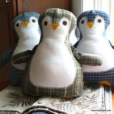 Custom Memory Pillow   Penguin Pillow  Made from by MaidenJane, $35.00