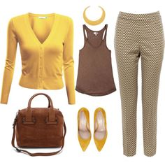Yellow, created by sonja-vn on Polyvore