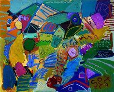 "Jose Manuel Merello.-""Primavera española"" (81x100 cm) Artistas españoles. Arte contemporáneo. Pintura española moderna actual. Arte e inversión."