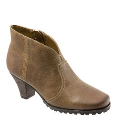 Loving this Wheat Leather Dakota Ankle Boot on #zulily! #zulilyfinds