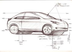 Car sketch tutorial sample car design education tips