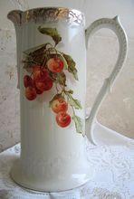 Cherry VASE Catherine Klein Pitcher Tankard Cherries LARGE