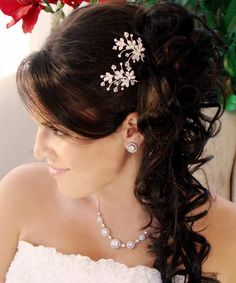 Crystal Sprung Ornate Hair Pin 91 (1 piece)
