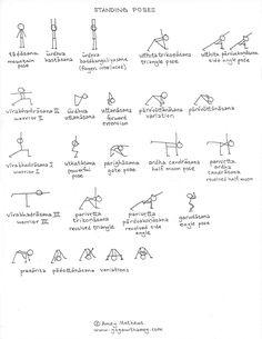Asana Yoga Poses, Yoga Poses Names, Yoga Sequences, Yoga Stick Figures, Morning Yoga Flow, Yoga Flow Sequence, Yoga Themes, Yoga Anatomy, Iyengar Yoga
