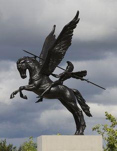 PEGASUS, Airborne Forces Memorial, by Charlie Langton - 2012
