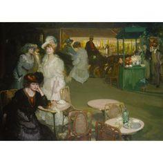"""Café de Nuit,"" Richard Emil (or Edward) Miller, by 1906, oil on canvas, 48 1/2 x 67 3/8"", Terra Foundation for American Art."