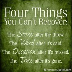 ღ four things you can't recover