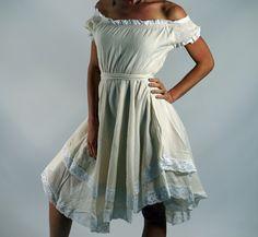 LACE DRESS SS Cream/White - Zootzu Renaissance Festival Dress, Medieval Dress, Hi Low Dress, Layered Gypsy Dress, Wench Gown, Steampunk  by zootzugarb on Etsy https://www.etsy.com/listing/235480994/lace-dress-ss-creamwhite-zootzu