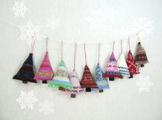 Handcrafted Tree Ornament  Eco Friendly Gift by violastudio