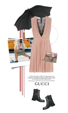 """""""In the Rain with Gucci"""" by pippi-loves-music ❤ liked on Polyvore featuring Gucci"""