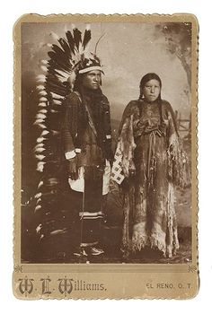 ARAPAHO COUPLE, Circa 1895