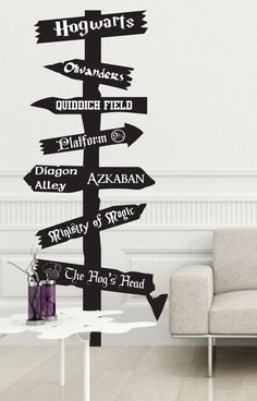 Harry Potter inspired road sign Vinyl wall Decal by JobstCo