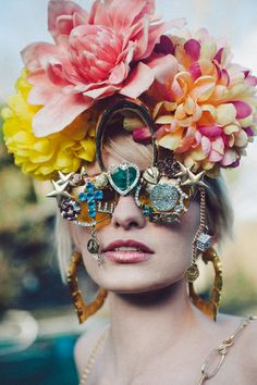 fumbalinas - AW13 #bling # flowerhair #floral #flower #headpiece