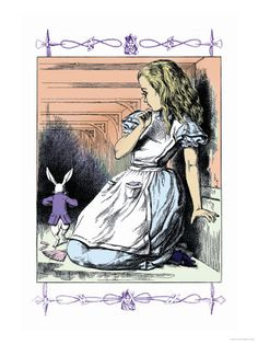 Alice in Wonderland: Alice Watches the White Rabbit Art par John Tenniel sur AllPosters. White Rabbit Alice In Wonderland, Alice In Wonderland Artwork, Painting Prints, Art Prints, John Tenniel, Rabbit Art, Rabbit Hole, White Rabbits, Adventures In Wonderland
