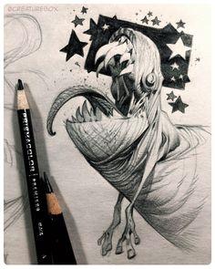 "2,113 Likes, 12 Comments - CreatureBox (@creaturebox) on Instagram: ""The Nightly Newsprint: New Year's Baby  #nightlynewsprint #monster #creature #newyear"""