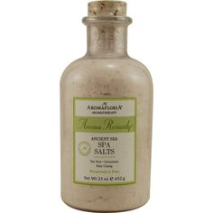 Aroma Remedy By Aromafloria Ancient Sea Spa Salts 23 Oz Blend Of Tea Tree, Geranium, And May Chang (Preservative Free)