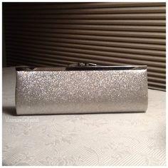 Vintage Silver Clutch / Purse / Evening Bag