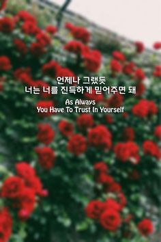 As Always You Have To Trust In Yourself (언제나 그랬듯-너는 너를 진득하게 믿어주면 돼) @ysmrii Korean Text, Korean Phrases, Korean Words, K Quotes, Life Quotes, Learn Basic Korean, Korea Quotes, Korean Letters, Korean English