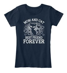 Mom And Cat Always Best Friend Forever New Navy Women's T-Shirt