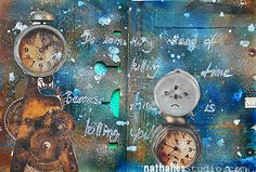 Time is Killing You or ...In my Art Journal today