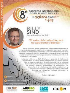 Billy Sind Socio Director, Grupo SJR @groupsjr  Presente en #8CongresoPRORP