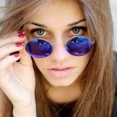 Francesca wearing Baio. Photo by: Marcella Milani on Instagram #Epos #sunglasses #vintage