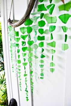 Green Sea Glass Mobile/ Wall Hanging / Rustic by SeaAndGlassOnEtsy, $150.00 - omg I love this amazing....