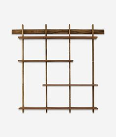 The Sticotti bookshelf is an ingenious, one-of-a-kind wooden modular shelving system that hangs from a single wall-mounted bracket. The shelves join together wi Luxury Bedroom Design, Bedroom Furniture Design, Furniture Ideas, Ipe Wood, Modular Shelving, Kit, Dream Apartment, Wall Treatments, Wall Shelves