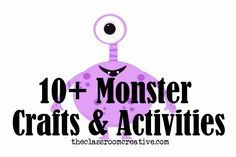 If you can't celebrate Halloween in the classroom, use Monsters!