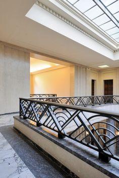 Villa Empain — MA² - Metzger et Associés Architecture Exterior Stair Railing, Balcony Railing Design, Staircase Railings, Staircase Design, Balcony Grill Design, Window Grill Design, Door Design, House Design, Escalier Design