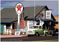 Angel Degadillo's Barber Shop in Seligman, Arizona Along Route 66 (Posterized) | Flickr - Photo Sharing!