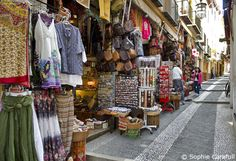 I have three pairs of those genie pants! Calderia Nueva is a street full of shops and tea rooms in Granada. Photo © Sophie Carefull