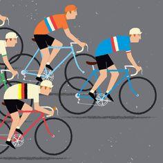 Cycling Art World Road Race Championship Cyclists Peloton by gumo