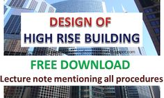 Design of HIGH RISE BUILDINGS Free download