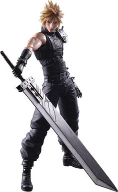 Crunchyroll - Cloud Strife Play Arts Kai Action Figure - Final Fantasy VII Remake http://amzn.to/2kgkgLT