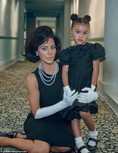 Shoot buddy:Kim Kardashian  shared her stunning Steven Klein photo shoot with daughter North for the September issue of Interview