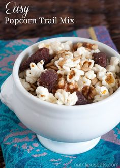 Easy Popcorn Trail Mix. What a versatile snack that allows for ...