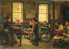 Edward Lamson Henry A Country School Painting Reproduction On Artclon For Sale | Buy Art Reproductions A Country School